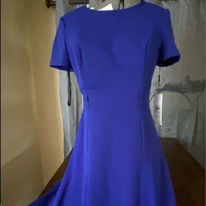 Blue new Calvin Klein dress, missing belt.